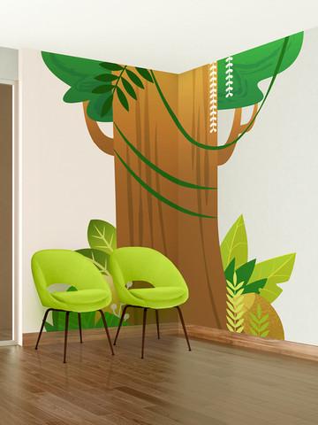 Jungle Waiting Room Mural