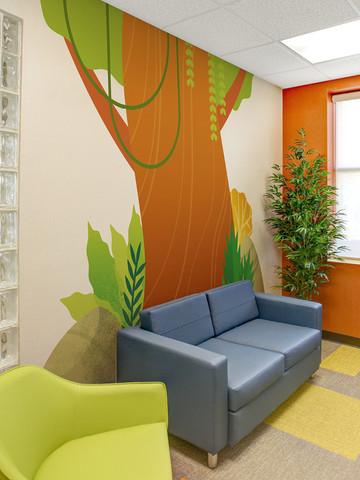 Jungle Tree Cutout Mural