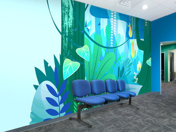 Cool Blue Waiting Room