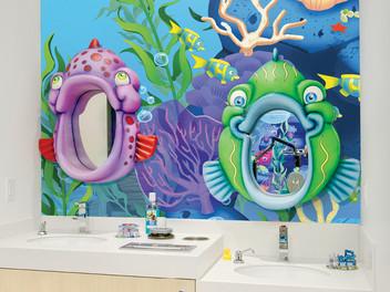 Fish Mirrors for Brushing Teeth