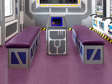 Spaced themed benches