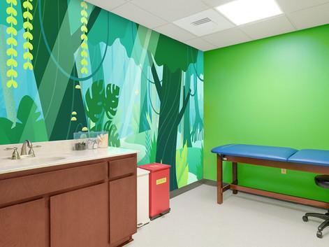 Jungle Medical Exam Room