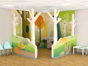Kid's Play Corner with Divider Walls