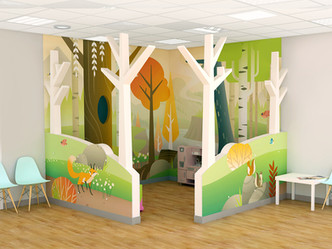 Kid's Play Corner with Divider Walls