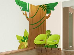 Seating Area Corner Mural
