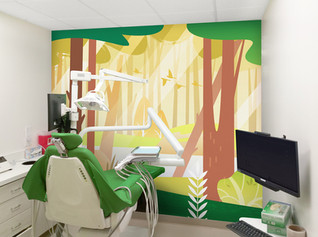 Woodland Themed Treatment Room