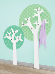 Geometric Tree Coat Hooks