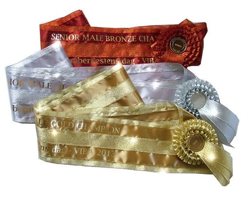 Metallic SASHES (135mm 5.25 INCHES) WIDE