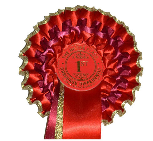 THE GOLD CUP (EDGED) ROSETTE