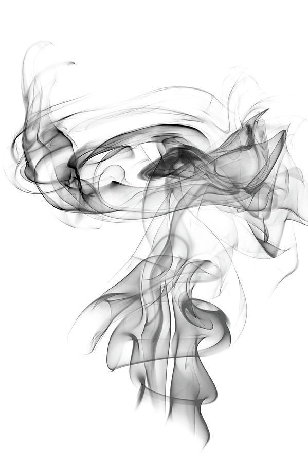 1-gray-smoke-on-a-white-background-abstr