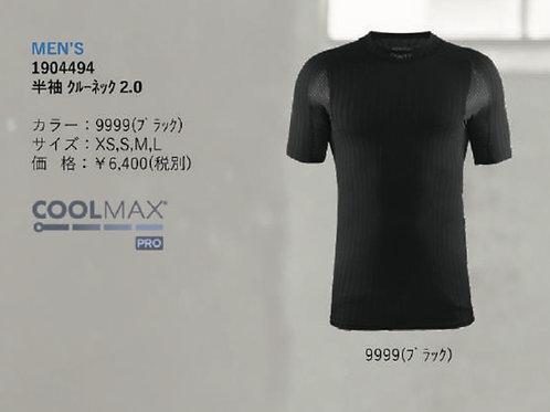 2019AW 1904494 半袖クルーネック 2.0 9999 ブラック Mサイズ