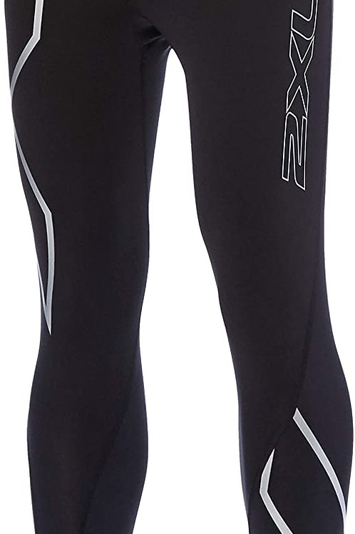 WA4173b W's Compression Tights BLK×SIL Sサイズ