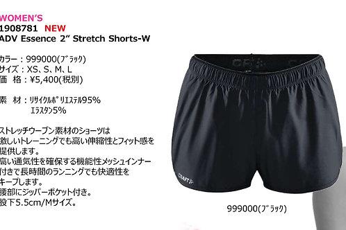 "2020SS 1908781 ADV Essencs 2"" Stretch Shorts-W NEW 999000 ブラック Sサイズ"