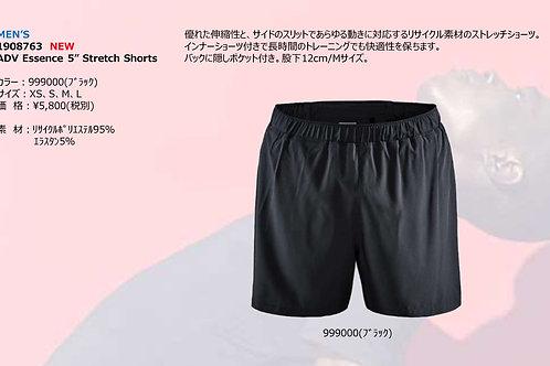 "2020SS 1908763 ADV Essence 5"" Stretch Shorts NEW 999000 ブラック Mサイズ"