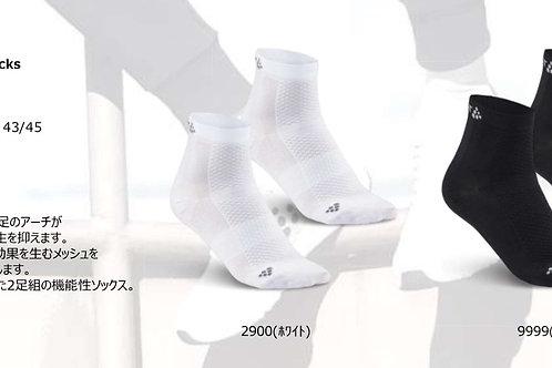 2020SS 1905044 Cool Mid 2-Pack Socks 9999 ブラック 27.5-29cm