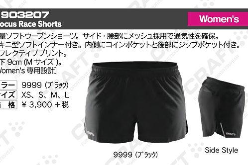 2016SS 1903207 Focus Race Shorts 9999 ブラック Sサイズ