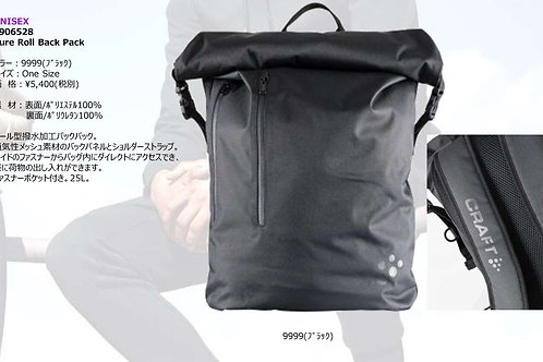 2019AW 1906528 Pure Roll Back Pack 9999 ブラック ONESIZE