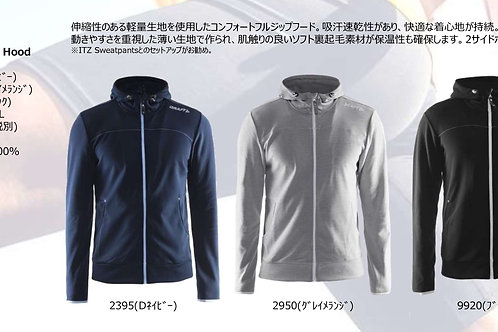 2020SS 1901692 Leisure Full Zip Hood 9920 ブラック Sサイズ