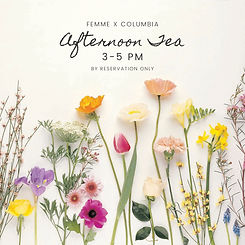 Afternoon Tea at femme x COLUMBIA