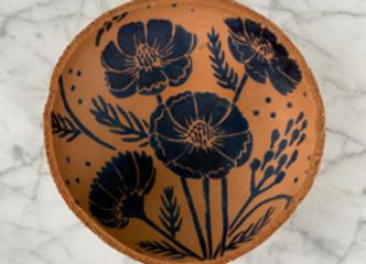Indigo + Leather Bowl