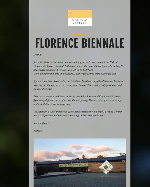 2017 Florence Biennale