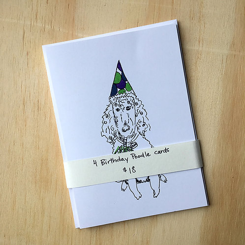 Pearl the Birthday Poodle Card Set