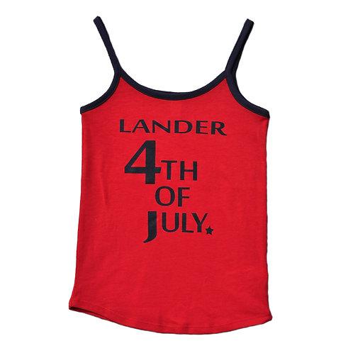 Lander 4th of July Ladies Tank Top