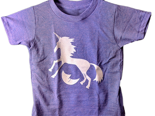Glow Unicorn Over the Moon Girls T-Shirt