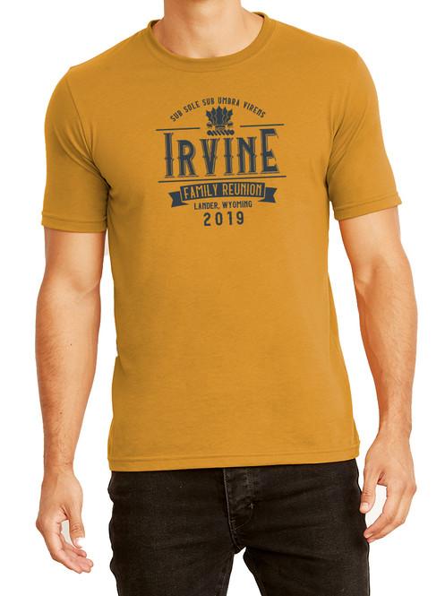 7e0135a6 Adult Irvine Family Reunion T-shirt