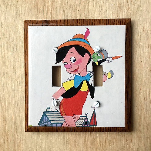 Pinocchio Double Light Switch Cover Plate