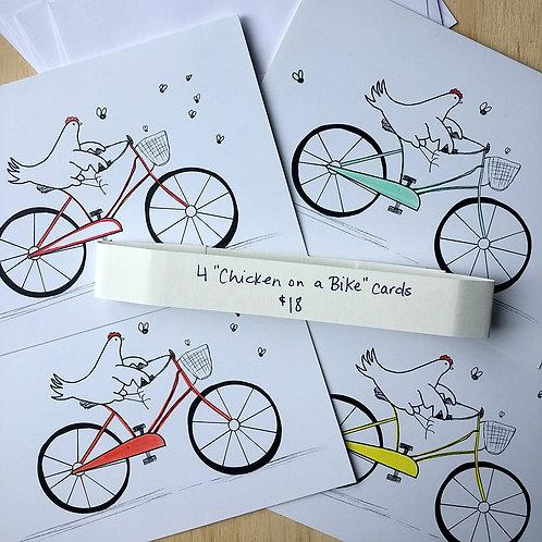 Chicken on a Bike Card Set