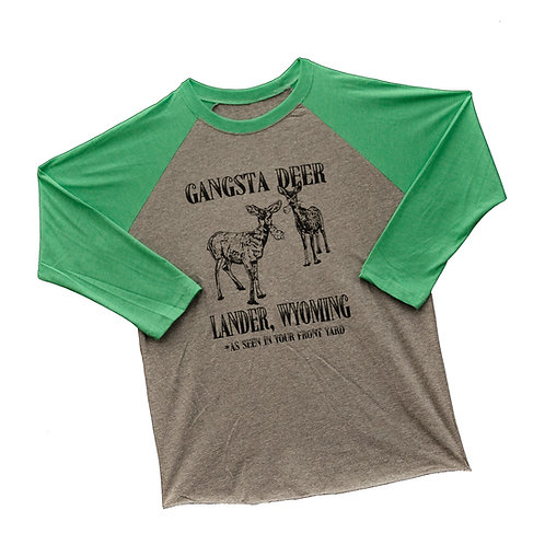 Gangsta Deer Unisex Baseball Tee