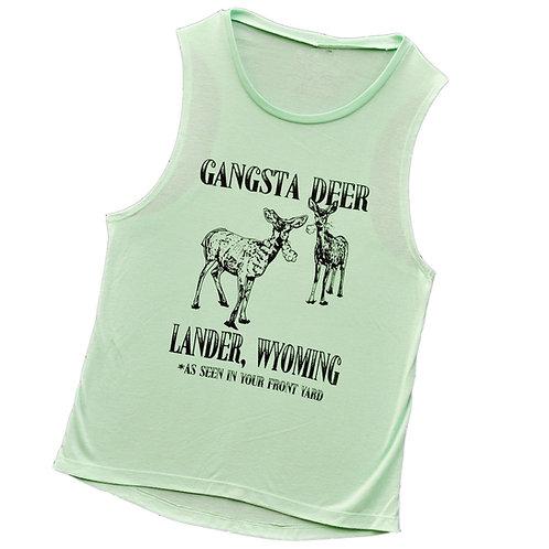Gangsta Deer Ladies Muscle Tank