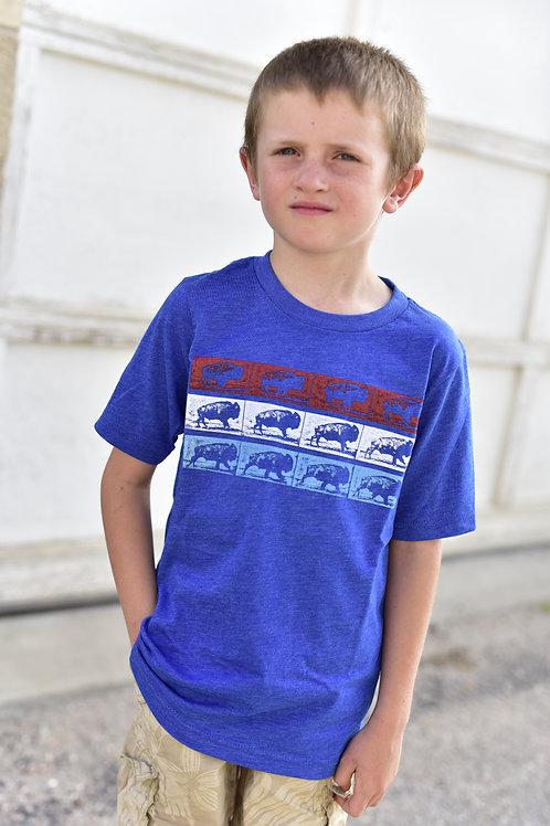 3 Row Buffalo Youth T-Shirt