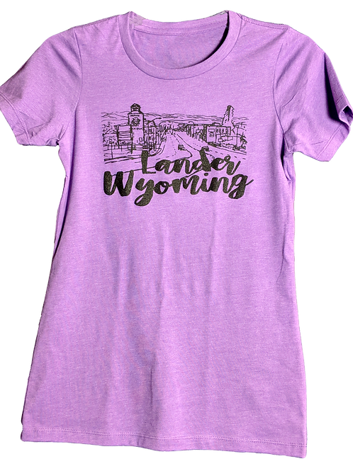 City of Lander Ladies T-Shirt