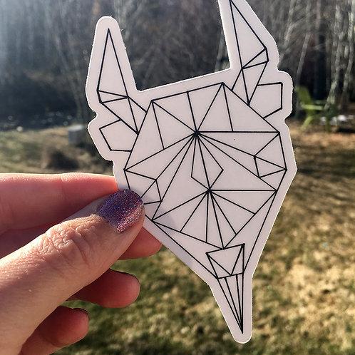 Geometric Bison Sticker