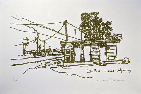 Lander City Park Bathroom  Poster