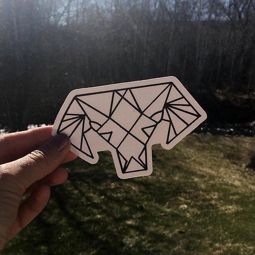 Geometric Bighorn Sheep Sticker