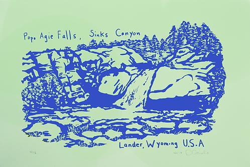 Popo Agie Falls Waterslide Poster