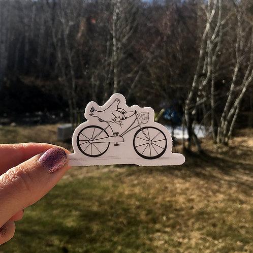 Chicken on a Bike Sticker
