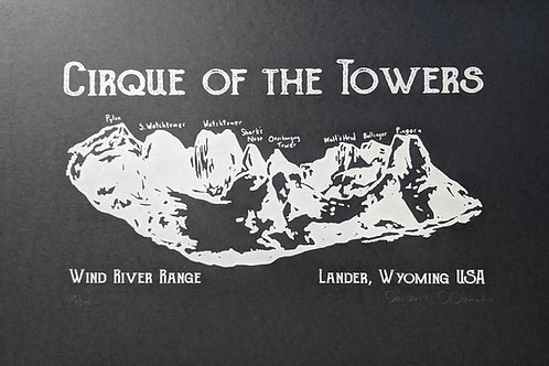 Cirque of the Towers Poster