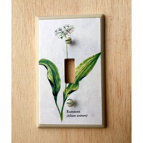 Flower Light Switch Cover Plate