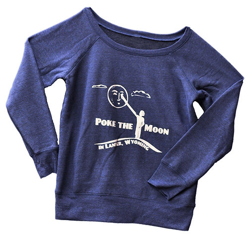 Poke the Moon Ladies Off the Shoulder Sponge Fleece Sweatshirt