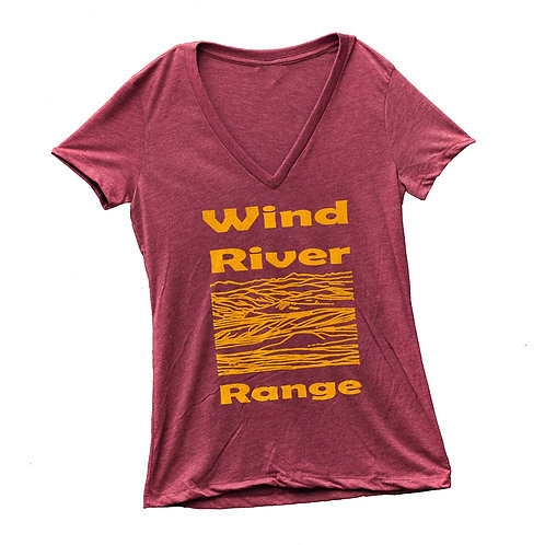 Wind River Range Ladies V-Neck T-Shirt