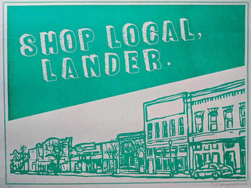 Shop Local, Lander Poster
