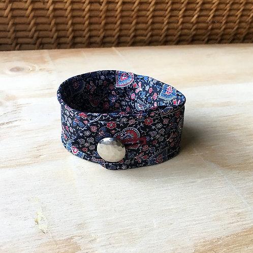 Blue Floral Tie Cuff