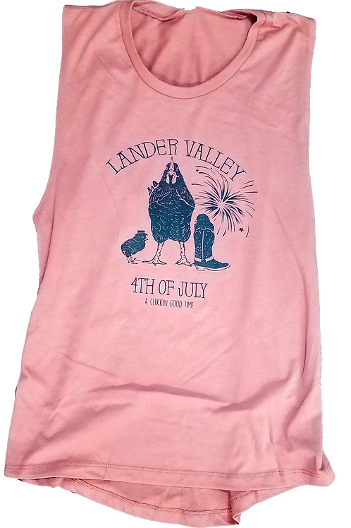 4th of July Chicken Ladies Tank