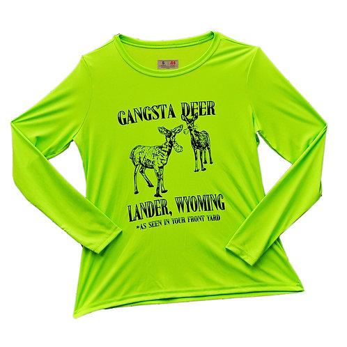Gangsta Deer Ladies Performance Tee