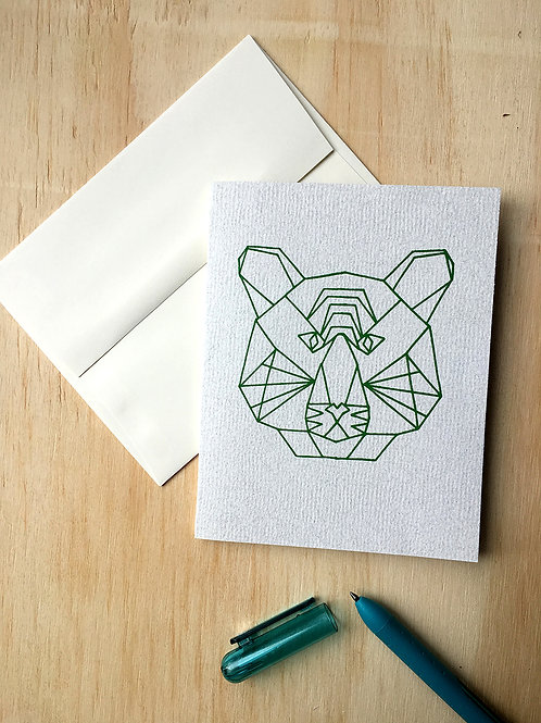Geometric Tiger Card