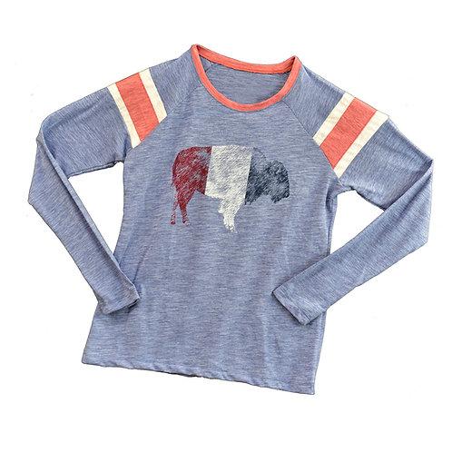 RWB Bison Ladies Long Sleeve T-Shirt